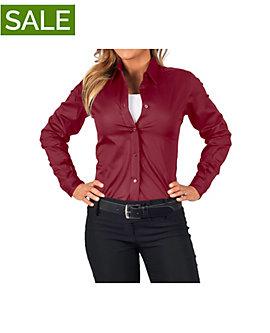 Womens Teflon Dress Shirt, Long Sleeve, Clearance