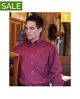 Mens Teflon Dress Shirt, Long Sleeve, Clearance