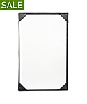 Single Pocket Imported Leather Menu Cover, 8½x14