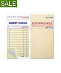 Padded, 3⅜ x 6½, 2 Part Guest Checks, Soft Sheet, per 2,500