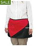 Waist Apron with Diagonal Contrast Pocket, 14 inch