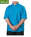 Mens Short Sleeve Active Chef Coat
