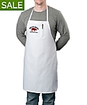 White Bib Apron with Pencil Pocket