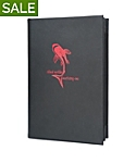 6 View Book Style Imported Leather Menu Cover, 8½x14