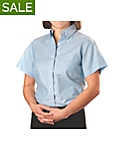 Womens Short Sleeve Oxford Shirt
