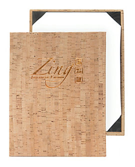 Single Pocket Premium Plus Cork Casebound Menu