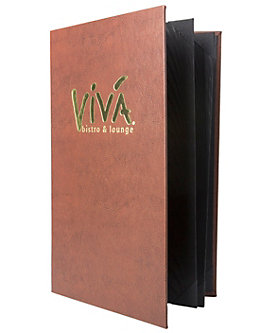 6 View Book Style Premium Casebound Menu