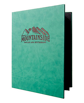4 View Book Style Quality Casebound Menu