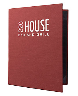 3-Ring Binder Heavy Duty Casebound Menu