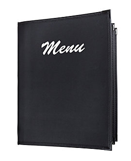 Quick Ship 4 View Book Style Fine Cafe Menu