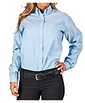 KNG® Womens Long Sleeve Oxford Shirt, Clearance