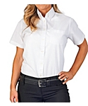 KNG® Womens Short Sleeve Oxford Shirt, Clearance